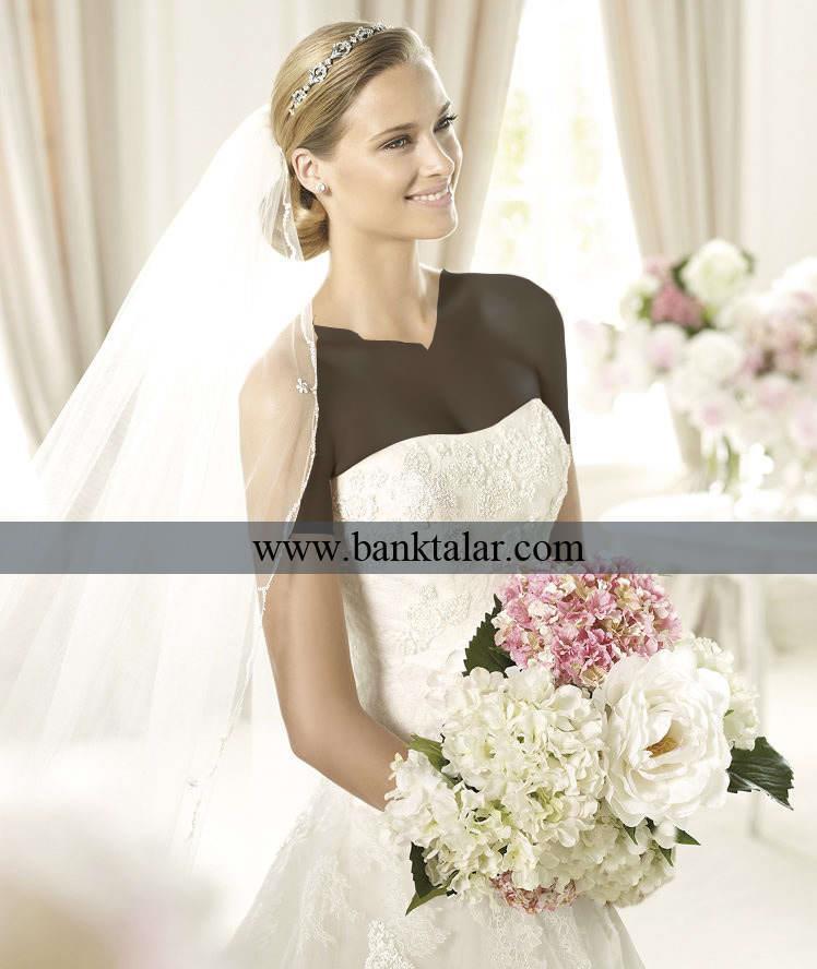 به روز ترین لباس عروس های دانتل **banktalar.com
