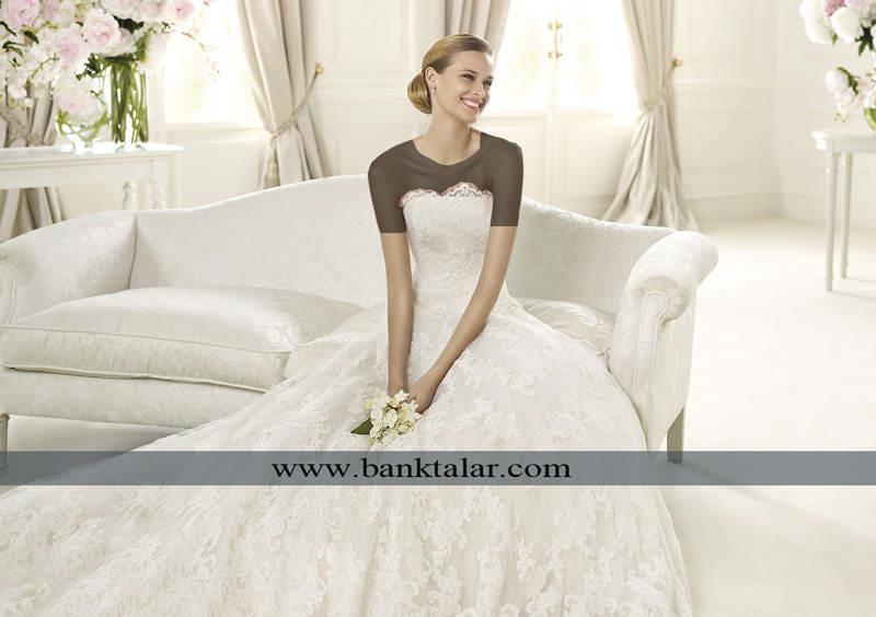 به روز ترین مدل های لباس عروس با طراحی های ساده و شیک **banktalar.com