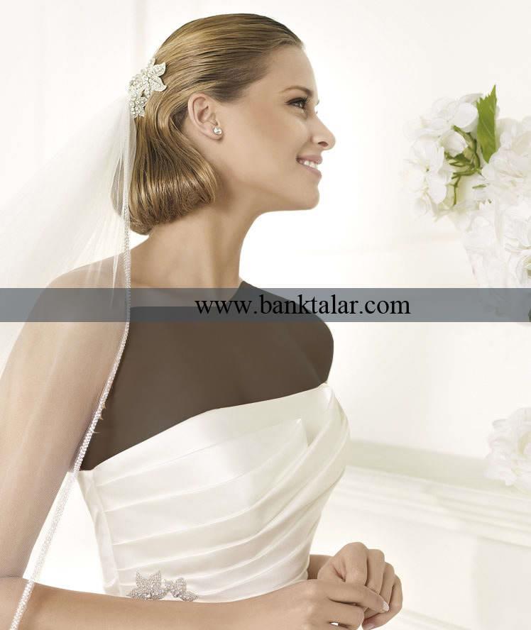 مدل لباس عروس های دکلته ، دانتل و مدل ماهی**banktalar.com
