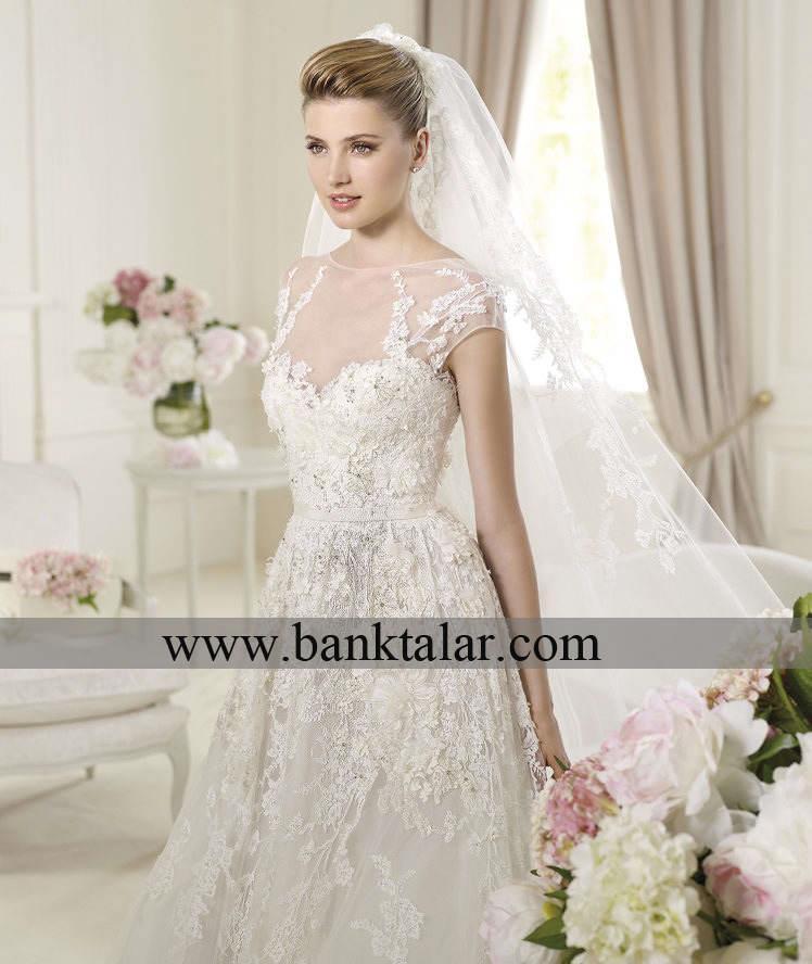عکس لباس عروس آستین کوتاه