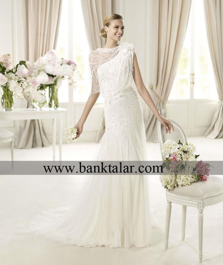 زیباترین مدل های لباس عروس دانتل و ساتن **banktalar.com