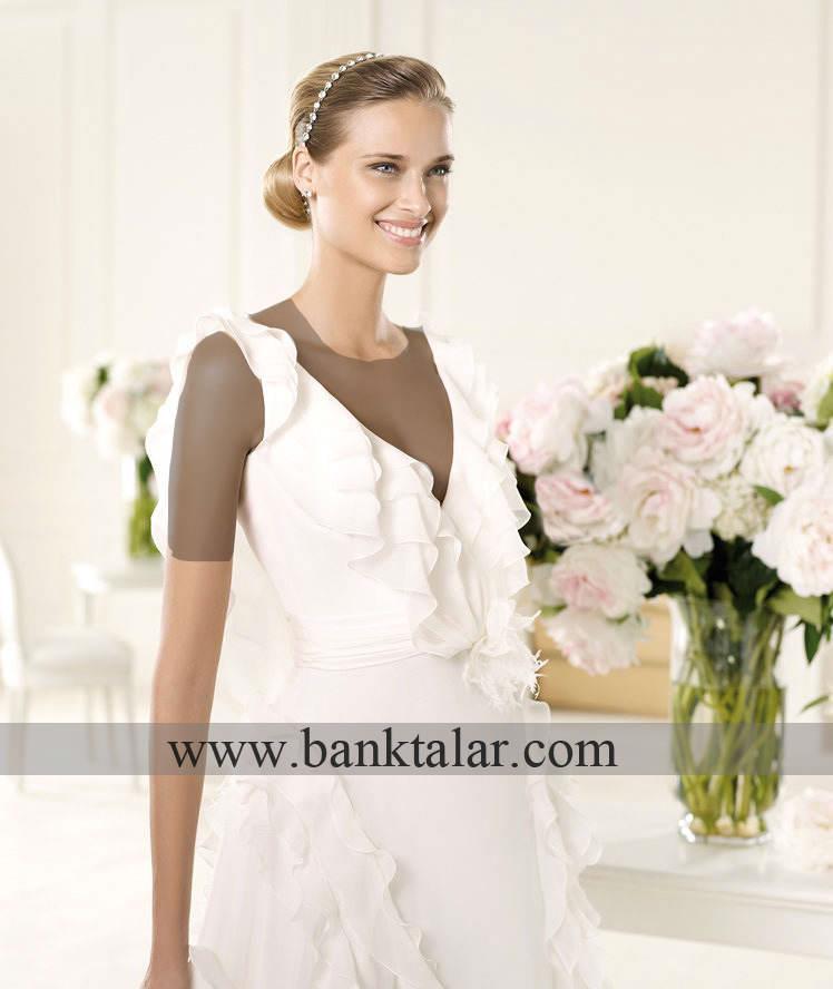 مدل های لباس عروس دانتل و حریر 2013 **banktalar.com