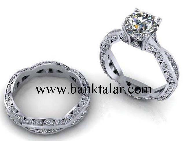 زیباترین مدل انگشترهای ازدواج، نامزدی و عروسی 2013 (5)**banktalar.com