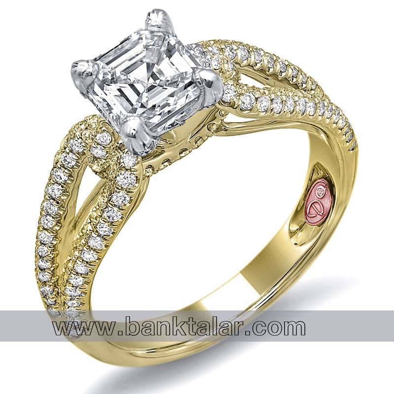 حلقه های ازدواج زیبا با نگین های مجلل**banktalar.com