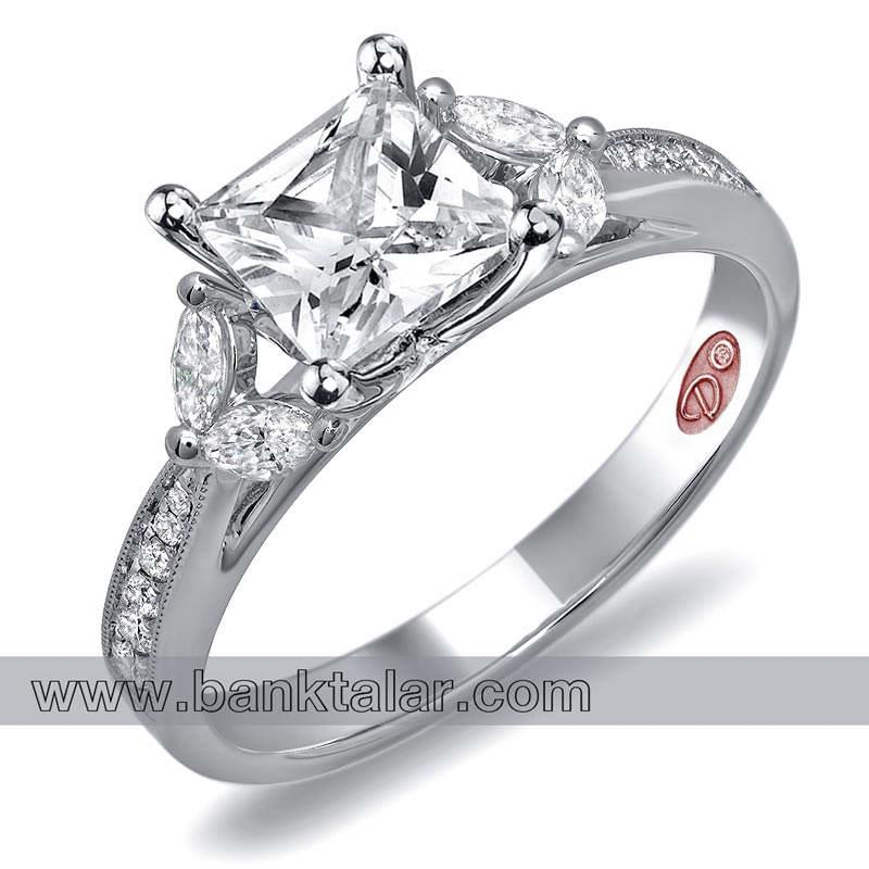 حلقه های عروسی با سنگ های قیمتی و چشمگیر**banktalar.com