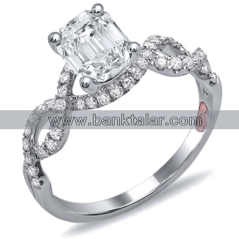 انگشتر های عروسی و نامزدی با نگین های جواهر بسیار زیبا**banktalar.com