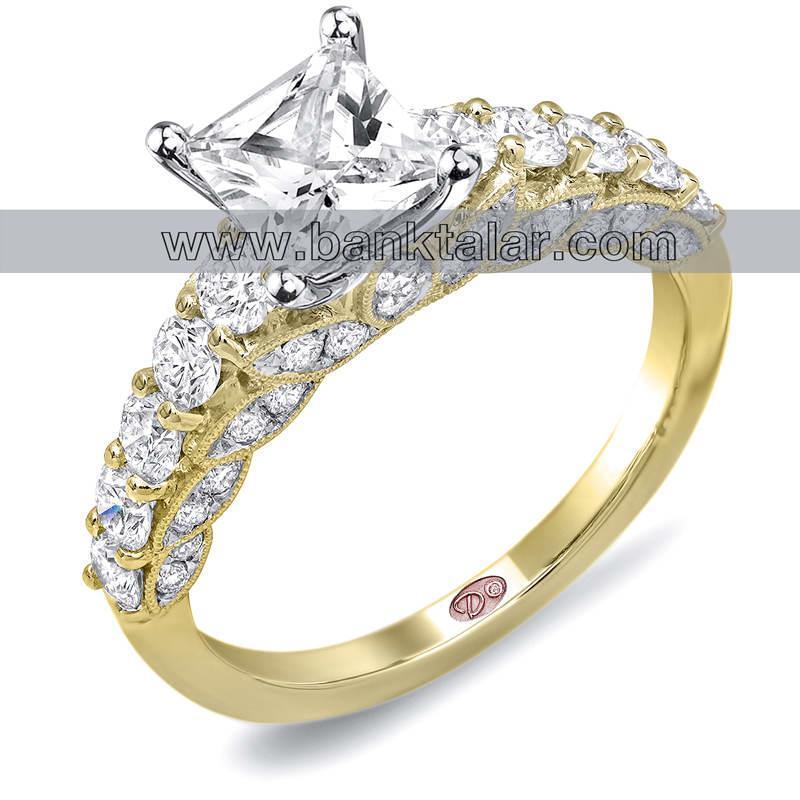 حلقه های عروسی زیبا با نگین مربع**banktalar.com