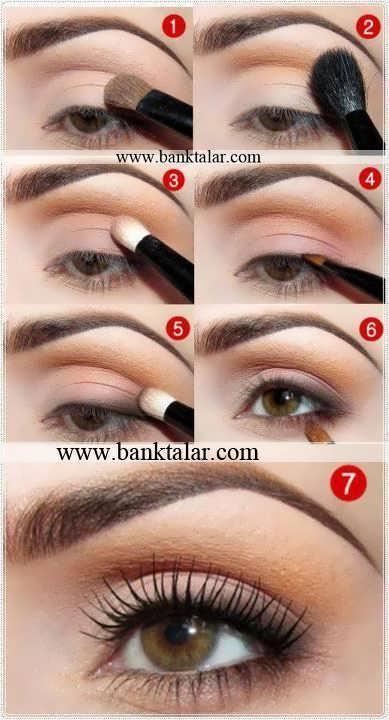 آموزش مرحله به مرحله آرایش چشم  به سبک اروپایی **banktalar.com