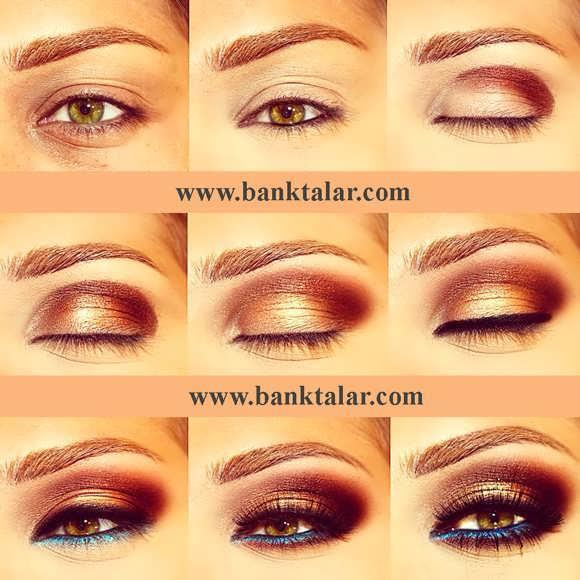 رنگ مو خ جدیدترین مدل آرایش چشم بهمراه مراحل کار