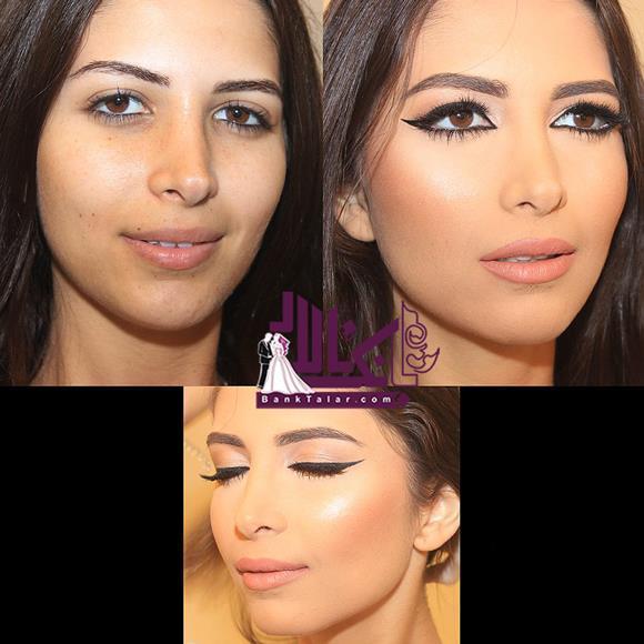 مدل آرایش و گریم عروس - قبل و بعد از آرایش