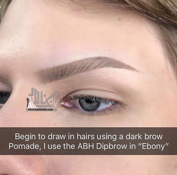 آموزش آرایش ابروهای کم پشت با سایه ابرو