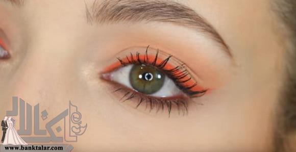 مدل آرایش چشم سبز رنگ بسیار زیبا
