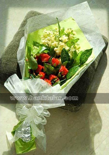 دسته گل های ساده و زیبا**banktalar.com