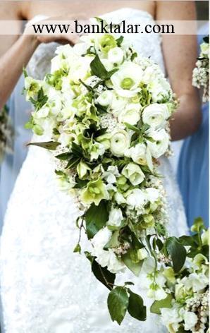 مدل های دسته گل عروسی آبشاری جدید و زیبا**banktalar.com