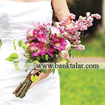 دسته گل عروس 2014 مدل بازویی**banktalar.com