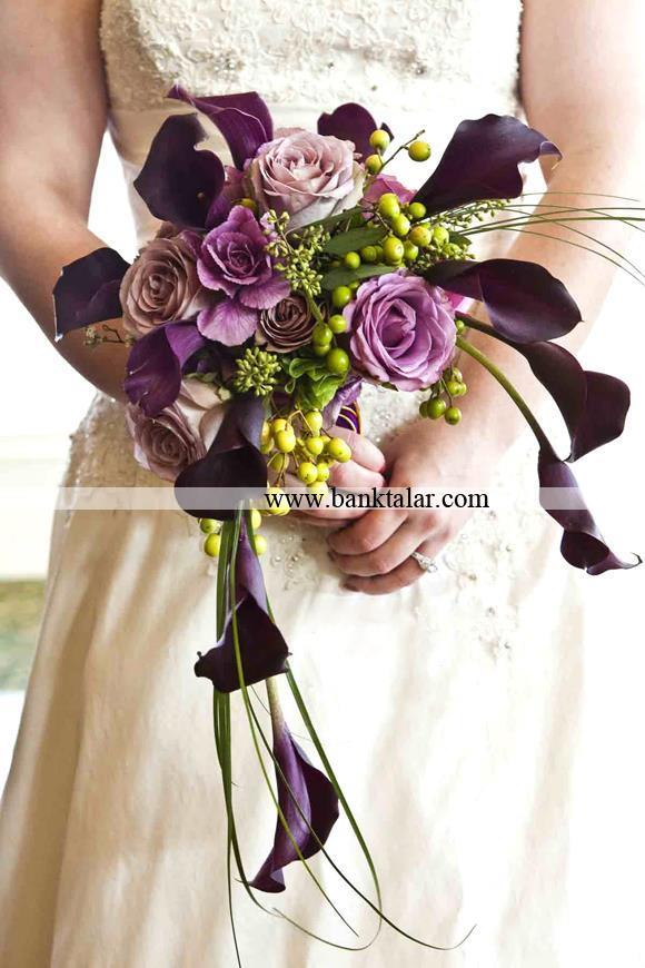 دسته گل عروس جدید مدل هلالی**banktalar.com