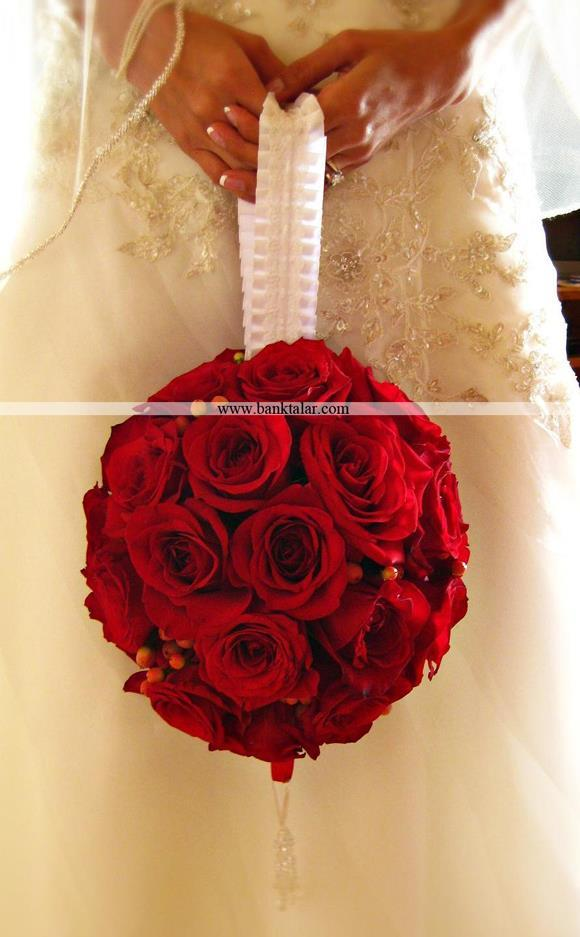 مدل دسته گل عروس 2014 مدل توپی **banktalar.com