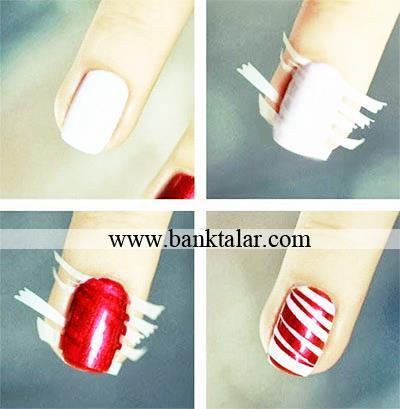 آموزش طراحی ناخن برای کریسمس و سال نو میلادی 2015**banktalar.com