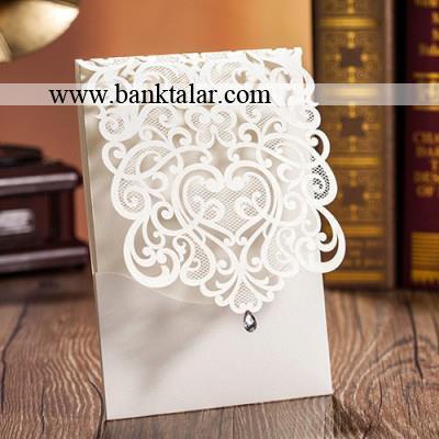 مدل کارت عروسی طرح دانتل