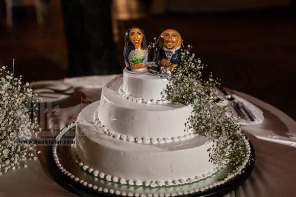 کیک عقد و عروسی با تزئینات شیک و خاص