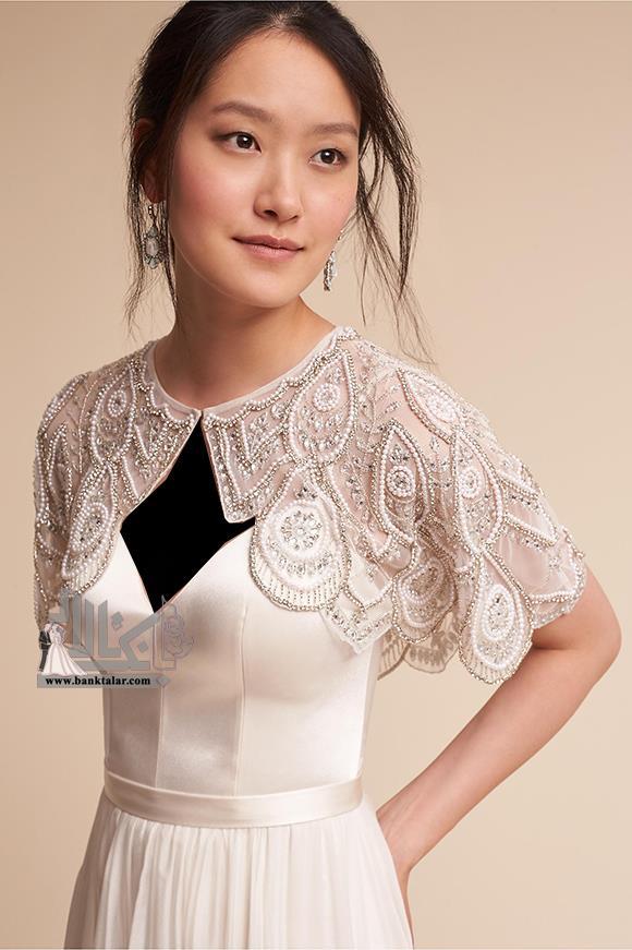 مدل کت و شنل لباس عروس ویژه فصل سرما