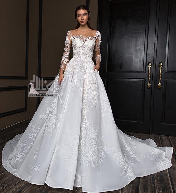 لباس عروس پرنسسی دانتل 2020