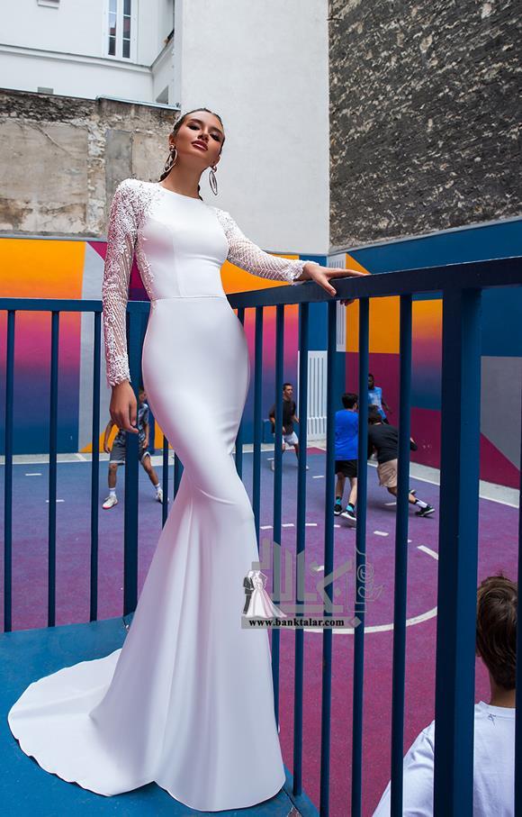 مدل لباس عروس آستین بلند ساده ۲۰۲۰