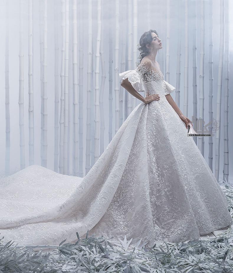 مدلهای لباس عروس آستین بلند و پوشیده 2020