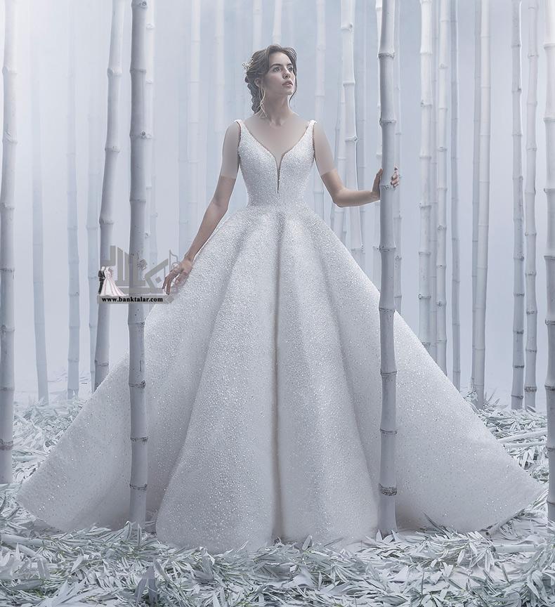 10 مدل لباس عروس مجلل 2020