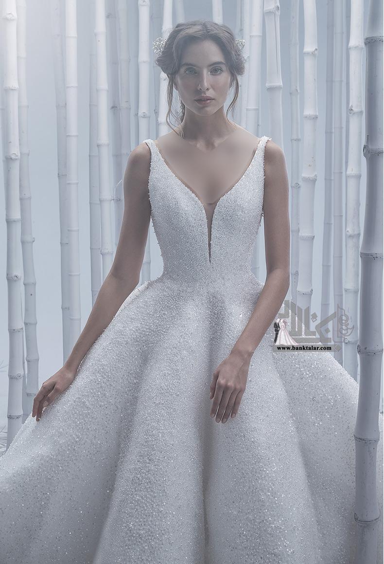 لباس عروس مجلل و پرکار جدید