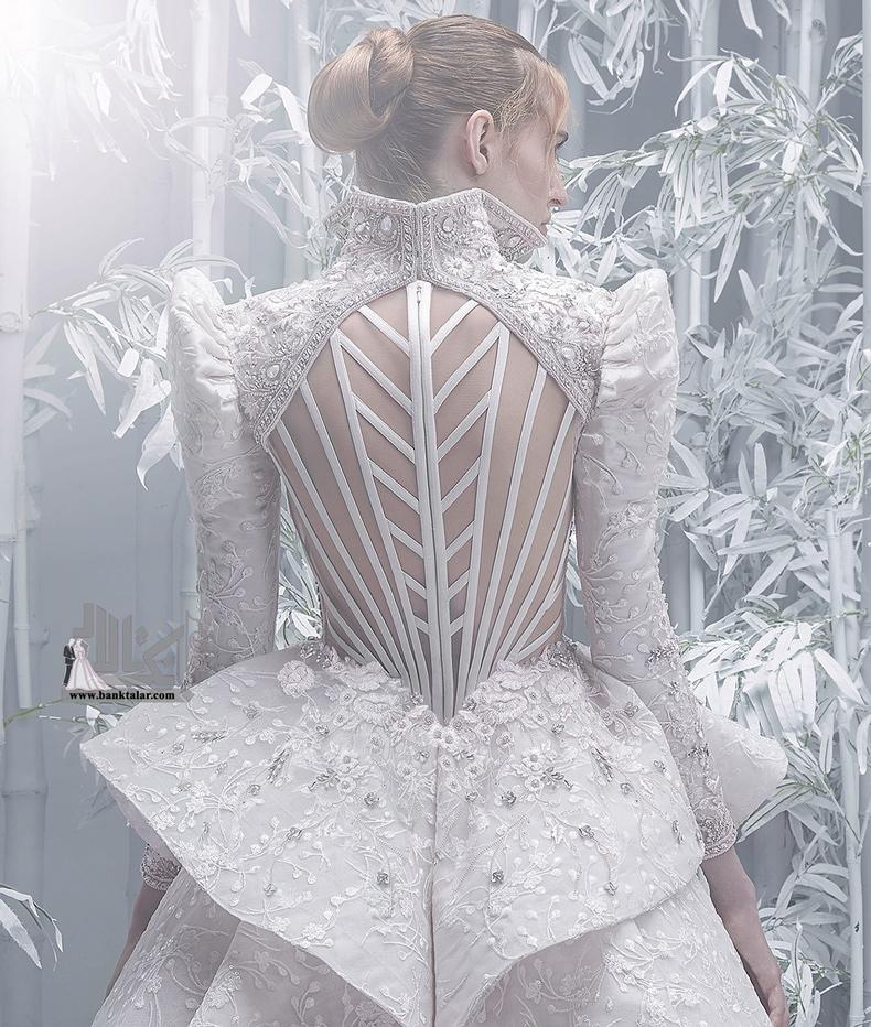 مدل لباس عروس آستین بلند و جدید ۲۰۲۰