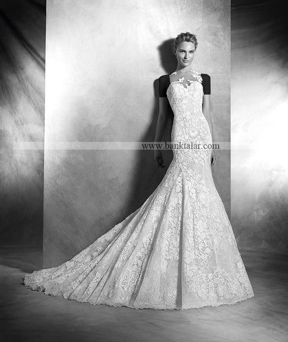 مدل لباس عروس 2017 دانتل اروپایی