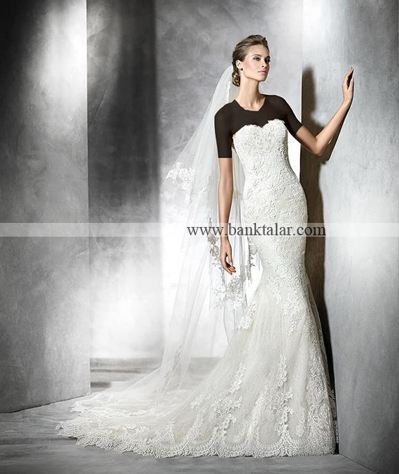 مدل لباس عروس 2016 دانتل اروپایی