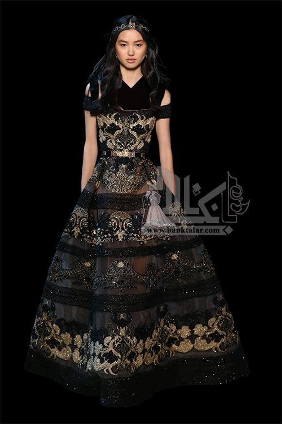 لباس مجلسی مجلل عربی پرزرق و برق