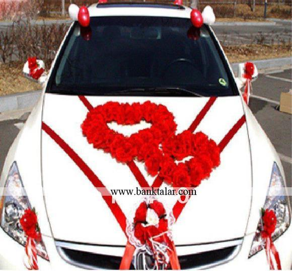 مدل گل آرایی ماشین عروس