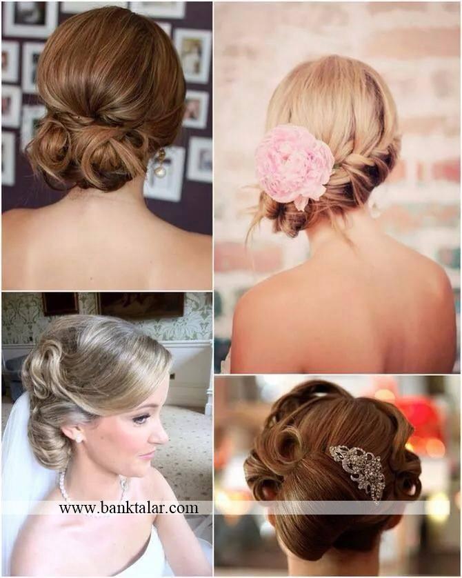 مدل موهای شنیون عروس جدید**banktalar.com
