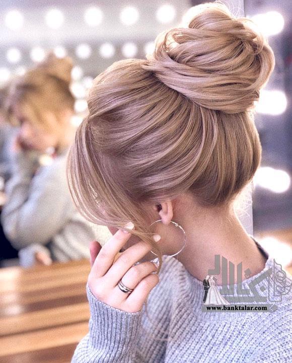 شینیون مو مدل گوجه مناسب صورت های گرد و کوچک