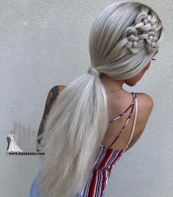 بافت موی بلند گره ای ساده