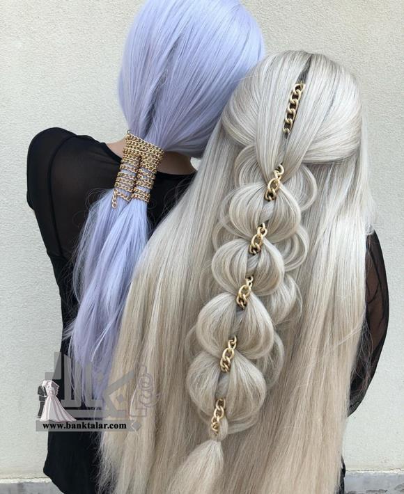 مدل های بافت مو مناسب عروسی برای مو بلند