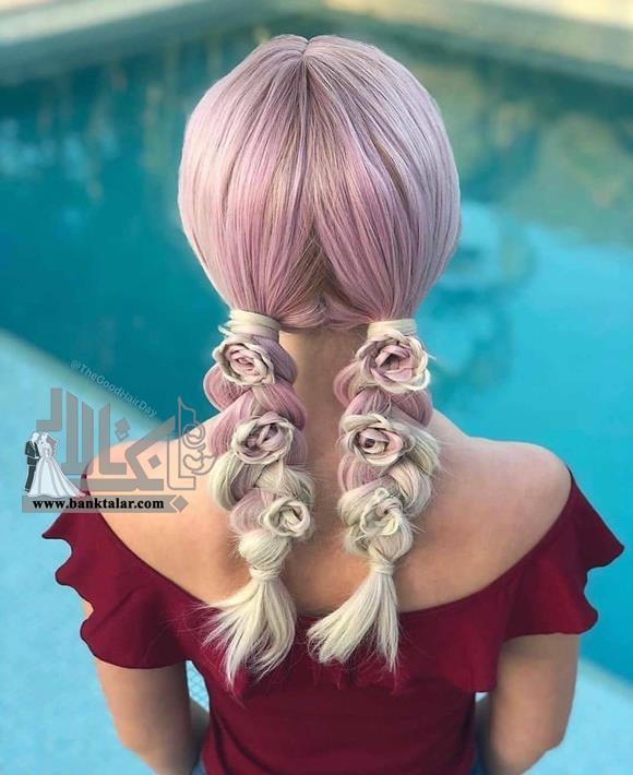 بافت موی گل دخترانه جدید
