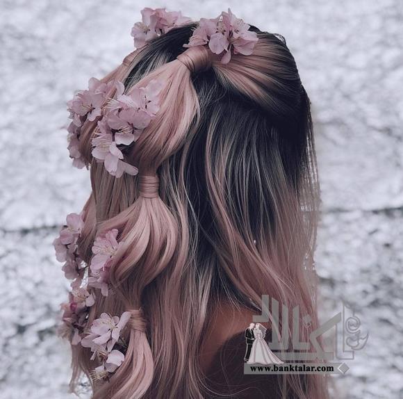 مدل شینیون مو با گره های زیبا