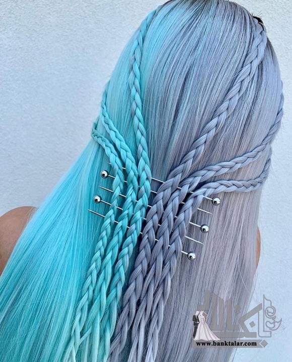 مدل بافت موی ساده برای مو بلند