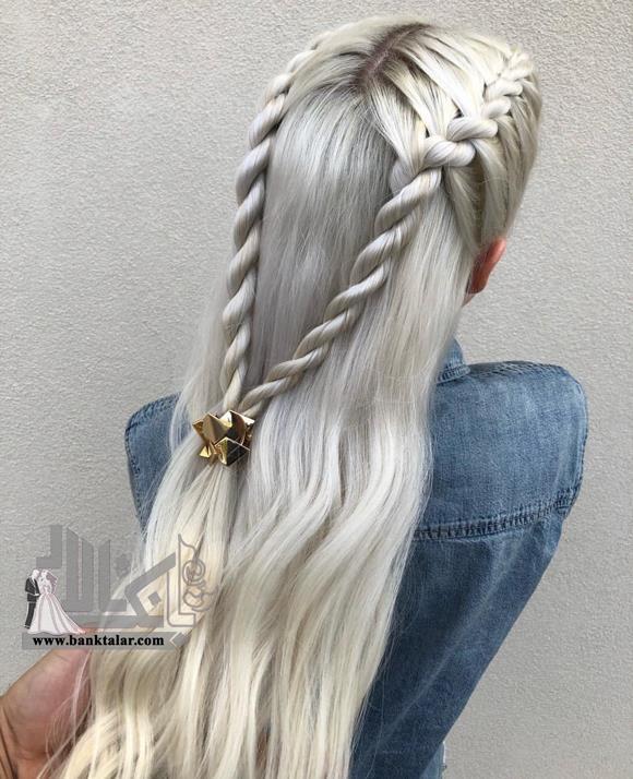 مدل موی بافت پیچ خورده موهای بلند