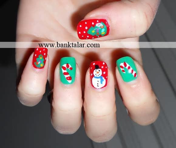 طراحی های ناخن مدل کریسمس 2014**banktalar.com
