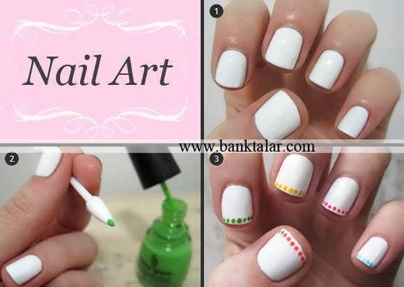 طراحی ناخن به همراه آموزش مرحله به مرحله تصویری**banktalar.com