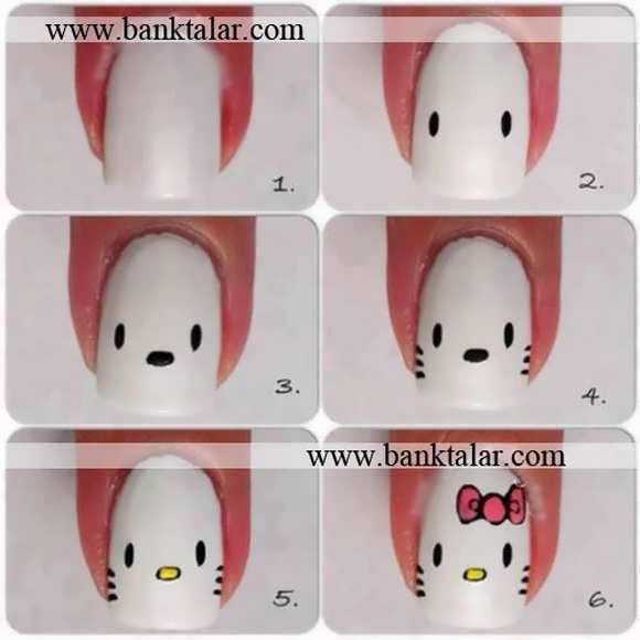 طراحی ناخن جدید به همراه مراحل کار**banktalar.com