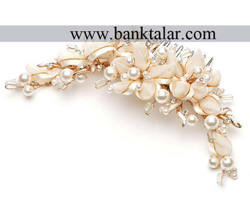 تل و گلسرهای ساده و قشنگ مخصوص عروس خانم ها**banktalar.com