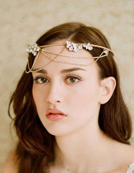 مدل نیم تاج و گل سرهای عروسی خاص و زیبا2012