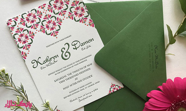 انتخاب رنگ مناسب برای کارت عروسی