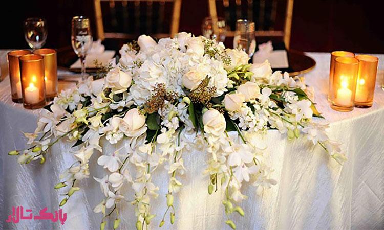 دیزاین و طراحی میز پذیرایی عروس و داماد